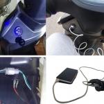 2x USB nabíječka voděodolná zásuvka do panelu