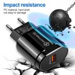 USB nabíječka s rychlo-nabíjením QC 3.0A 18W
