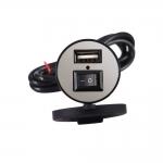 Voděodolná USB zásuvka s vypínačem na motorku
