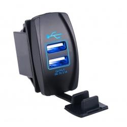 Voděodolná USB zásuvka do panelu 3,1A