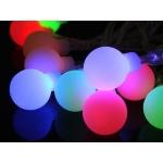 Vánoční osvětlení na stromeček LED koule barevné do sítě