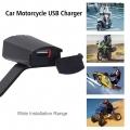 Vodě-odolná USB zásuvka na motorku k montáži na zrcátko