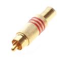 Zlacený konektor Cinch (RCA) pro koaxiální kabel