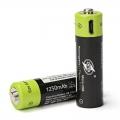 ZNTER nabíjecí baterie AA 1250mAh/ USB/ 1.5V/ 2ks v balení